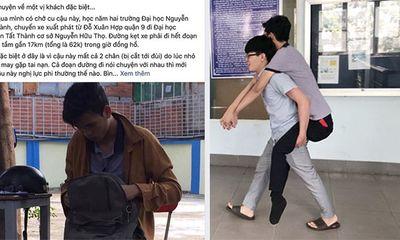 Chở sinh viên mất 2 chân không lấy tiền, anh xe ôm