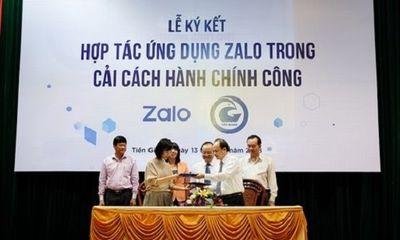 Nhiều tỉnh, thành phố dùng Zalo để giải quyết thủ tục hành chính