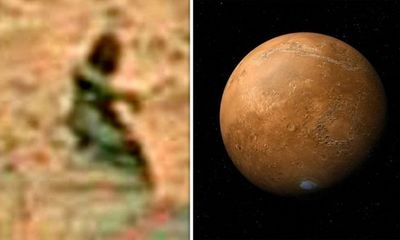 Sự sống trên sao Hỏa: Thợ săn UFO phát hiện bức tượng trên hành tinh Đỏ?