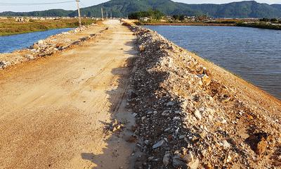 Dự án tu bổ, nâng cấp tuyến đê sông De: Dùng đất thải để đắp đê?