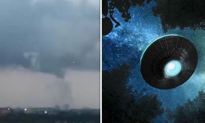 Xuất hiện vật thể nghi là UFO trong cơn lốc xoáy ở Amsterdam