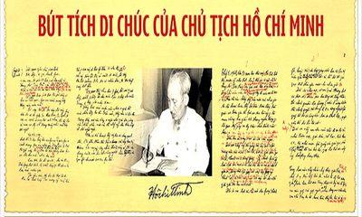 Di chúc Chủ tịch Hồ Chí Minh và 50 năm thực hiện lời căn dặn của Người