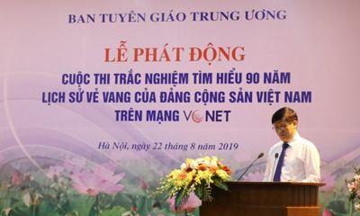 """Lễ Phát động Cuộc thi trắc nghiệm """"Tìm hiểu 90 năm lịch sử vẻ vang của Đảng Cộng sản Việt Nam"""""""