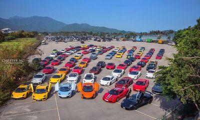 Cận cảnh dàn siêu xe hơn 500 tỷ đồng ở Hồng Kông