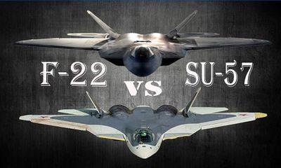 So sánh sức mạnh tiêm kích tàng hình F-22 của Mỹ và chiến đấu cơ Su-57 của Nga