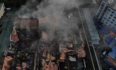 Video: Nhìn từ trên cao, nhà máy phích nước Rạng Đông tan hoang sau đám cháy kinh hoàng