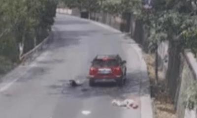 Video: Xe máy lấn làn lao thẳng vào đầu ôtô, hai người trên xe bị hất văng