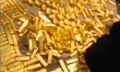 Lực lượng chức năng oằn lưng đếm hơn 13 tấn vàng giấu trong hầm nhà quan tham Trung Quốc