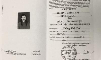 Gia Lai: Cách chức nữ hiệu trưởng vì sử dụng bằng THPT giả