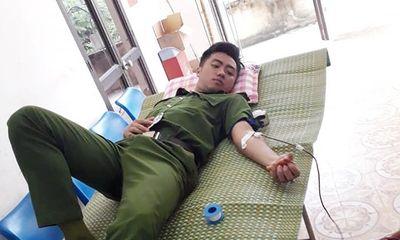Thiếu úy công an huyện hiến máu cứu sản phụ đẻ khó ở Cao Bằng