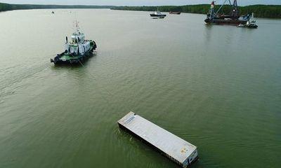 Phát hiện thêm 8 container dưới đáy sông Lòng Tàu sau vụ chìm tàu ở Cần Giờ