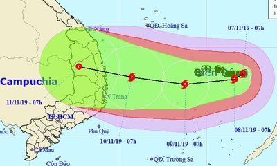 Tin tức dự báo thời tiết mới nhất hôm nay 8/11/2019: Bão số 6 giật cấp 14 tăng tốc, hướng vào Quảng Ngãi- Khánh Hòa