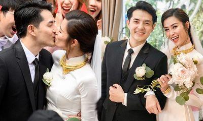 Đông Nhi rạng rỡ lên xe hoa cùng Ông Cao Thắng, trao nhau nụ hôn ngọt ngào