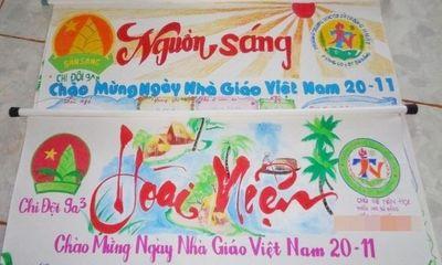 Cách làm báo tường đơn giản nhưng vẫn ấn tượng chào mừng ngày Nhà giáo Việt Nam 20/11