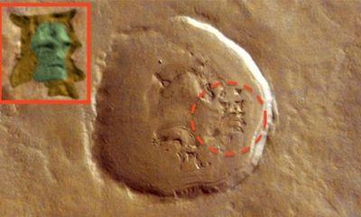 Phát hiện dấu ấn gương mặt người ngoài hành tinh trên sao Hoả