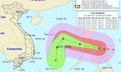 Bão Kammuri giật cấp 17 sắp tiến vào Biển Đông
