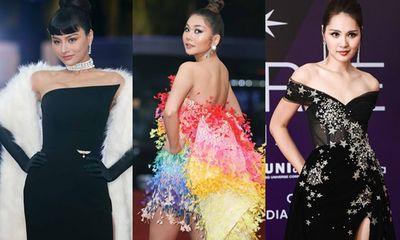 Dàn sao Việt xúng xính váy áo trên thảm đỏ chung kết Hoa hậu Hoàn vũ Việt Nam 2019