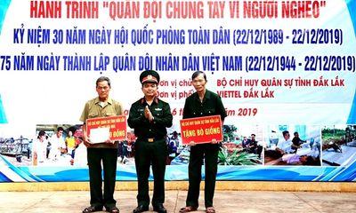 """""""Quân đội chung tay vì người nghèo"""" tại huyện biên giới Ea Súp"""