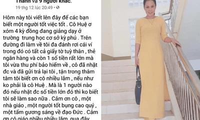 Hà Tĩnh: Nhặt được túi chứa 32 triệu đồng, cô giáo tìm người đánh mất trả lại