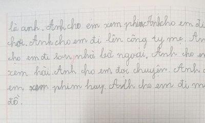 Bật cười bài văn tả thành viên trong gia đình của nam sinh lớp 2 khiến mẹ
