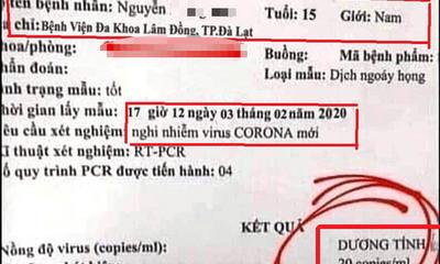 Điều tra vụ làm giả kết quả xét nghiệm dương tính với virus Corona