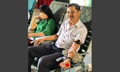 Nghĩa cử cao đẹp: Thầy giáo 24 lần hiến máu cứu người