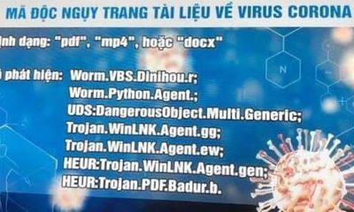 Lợi dụng dịch Covid-19, tin tặc phát tán mã độc nguy hiểm