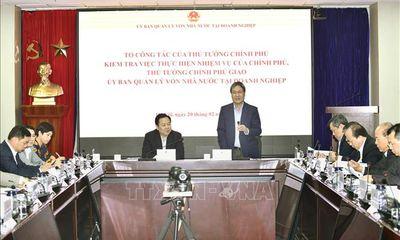 Tổ công tác của Thủ tướng làm việc với Ủy ban Quản lý vốn Nhà nước tại DN