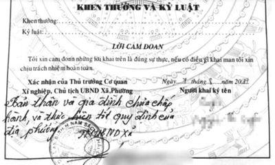 Từ ngày 20/4, không được nhận xét vào tờ khai lý lịch cá nhân: Hết nạn