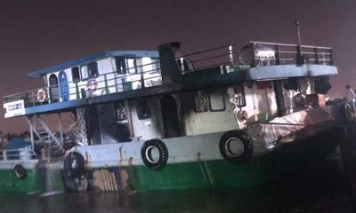 Đồng Nai: Tàu chở xăng 1.000 tấn bốc cháy dữ dội, 2 người chết, 1 mất tích