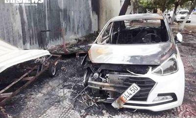 Vụ nghi đốt vàng mã khiến ô tô cháy rụi ở Đà Nẵng: Công an trích xuất camera