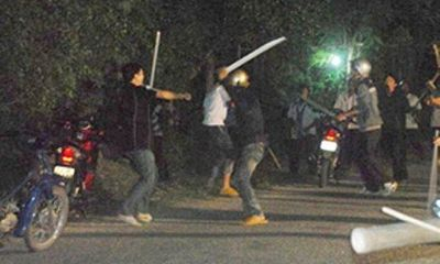 Mâu thuẫn sau chầu nhậu, hai nhóm thanh niên lao vào hỗn chiến