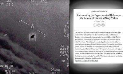 Lầu Năm Góc công bố các video về UFO, chính thức giải mật sau nhiều năm