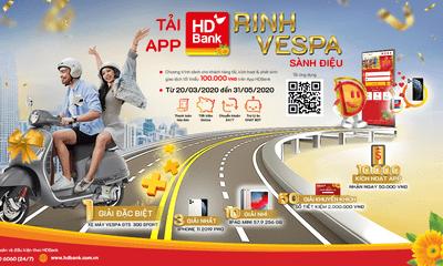 Tải App trúng Vespa, ở nhà và mua sắm online