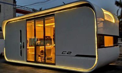 Ngắm căn nhà thông minh có thiết kế như tàu vũ trụ, giá từ 52.000 USD