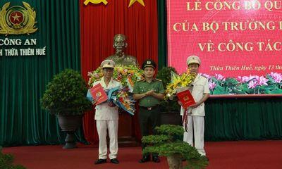 Phó GĐ Công an Hà Tĩnh và Quảng Bình được điều động làm Phó GĐ Công an Thừa Thiên - Huế