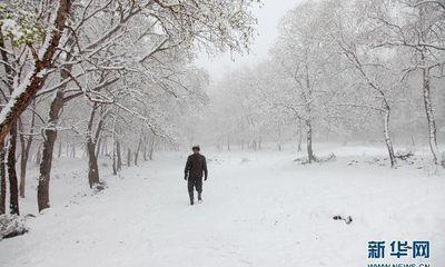 Trung Quốc: Tuyết bất ngờ rơi giữa mùa hè