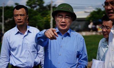 Bí thư Nguyễn Thiện Nhân thị sát thực trạng xây nhà trái phép ở Bình Chánh