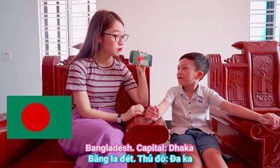 Hotgirl biết 7 thứ tiếng Khánh Vy thử tài nói tiếng Anh của cậu bé thần đồng 6 tuổi Quang Bình