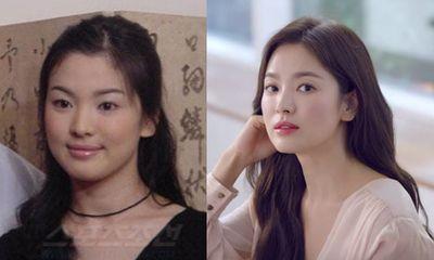 Tượng đài nhan sắc Song Hye Kyo gây sốc với loạt ảnh mặt tròn xoe, nặng tới 70kg cách đây 20 năm