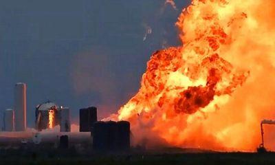 Video: Mẫu tàu Starship của SpaceX phát nổ chỉ sau 1 phút thử nghiệm động cơ