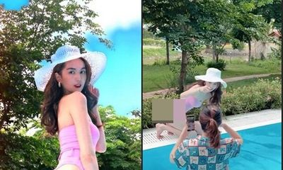 Ngọc Trinh khoe ảnh bikini mướt mắt ở hồ bơi, người chụp là nhân vật nổi tiếng cộng đồng mạng mấy ngày qua