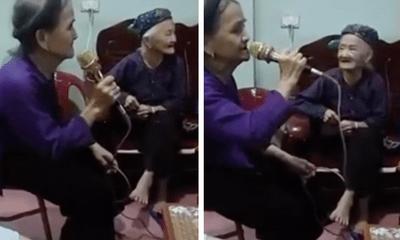Video: Cụ bà U90 hát karaoke khiến ai cũng phải