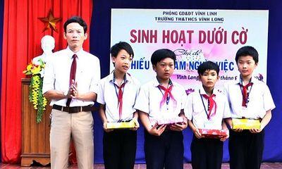 Vĩnh Long: Khen thưởng nhóm học sinh lớp 6 cứu người gặp nạn