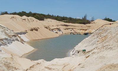 Khai thác cát trái phép, công ty Free Land bị phạt 100 triệu đồng