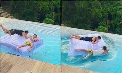 Video: Sau màn sống ảo triệu likes bên hồ bơi vô cực, hai chàng trai suýt mất mạng