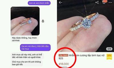 Chưa kịp mừng vì được người yêu tặng nhẫn kim cương, cô gái
