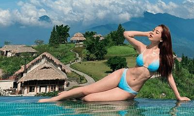 Chi Pu diện bikini thả dáng gợi cảm, khoe