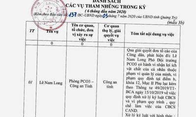 Vụ cán bộ công an tham nhũng, bị giáng chức: Phó Giám đốc Công an Quảng Trị nói là
