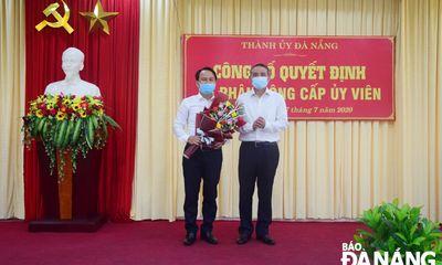 Ông Nguyễn Đình Vĩnh giữ chức Phó trưởng Ban Tuyên giáo Thành ủy Đà Nẵng